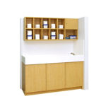 Hatteras Collection Cubbie Diaper Changing Table for Child Care Centers and Pre-Schools with sink.